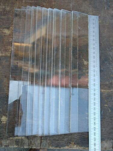 Parkray stove glass strips 255mm X 40mm .... Qty 10