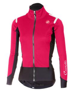 Castelli ciclismo mujer Ros Chaqueta De Luz W eléctrico Alpha Magenta Negro Pequeño S