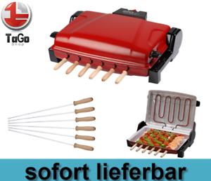 "Tischgrill Elektrogrill /""Şiş Kebap/"" elektrischer Tischgrill Rot 1200W Neu OVP"
