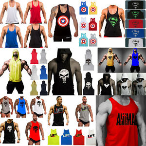Men-039-s-Gym-Muscle-Sleeveless-Tee-Shirt-Tank-Top-Bodybuilding-Sport-Fitness-Vest
