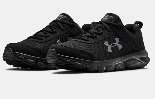 newest 39e16 1734e Men's Under Armour UA Charged Assert 8 Running Shoes - Black/Black  3021952-002