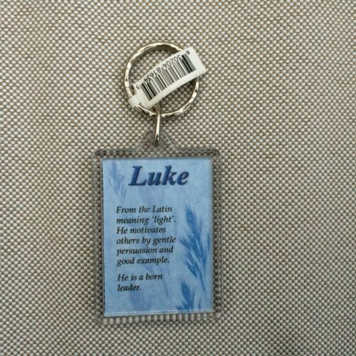 Personalised Name Meaning KEYRING  KEY RING KEY CHAIN MALE A Z FREEPOST
