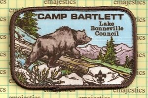BSA LAKE BONNEVILLE-TRAPPER TRAILS COUNCIL CAMP BARTLETT 1982 HIKE PATCH