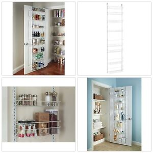 Charmant Details About Adjustable Pantry Storage Rack 8 Tier Shelves Over The Door  Wall Kitchen Bath