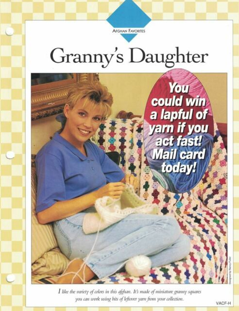 Grannys Daughter Afghan To Crochet Sgl Pattern Vanna White