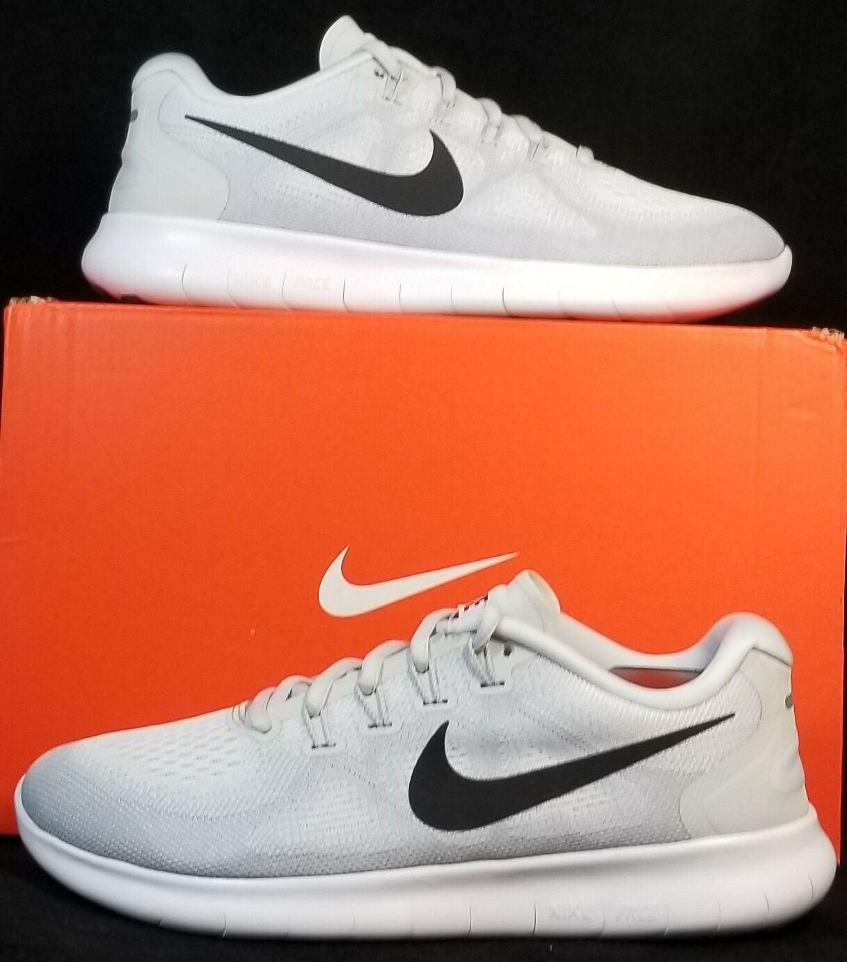 NIB NIKE WOMENS FREE RN 2017 880840 101 PURE PLATINUM RUNNING CASUAL SHOES Price reduction New shoes for men and women, limited time discount