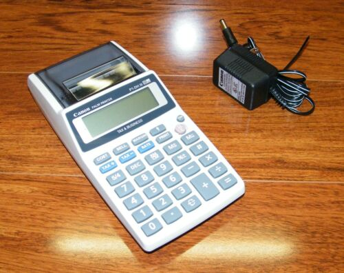 Canon P1DH III Tax & Business Palm Printer Calculator w Power Supply