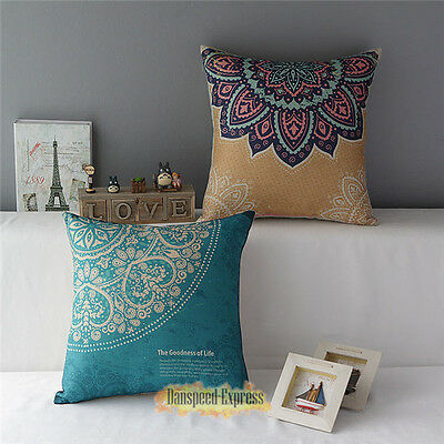 European Vintage Linen Cotton Cushion Cover Throw Pillow Case Home Sofa Decor