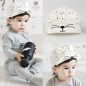 Details about Toddler Kids Baby Boys Girls Cat Summer Cotton Sun Visor  Baseball Beret Hat Cap e236c1a59e8