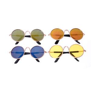 63041e716a Accessoires de poupée rond lunettes de soleil verres colorés pour 18 ...