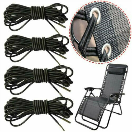 4X Ropes Elastic Cord For Recliner Chairs Garden Lounger Chair xfz