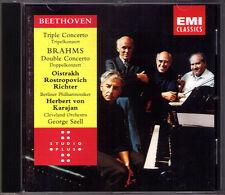 OISTRAKH ROSTROPOVICH RICHTER KARAJAN Beethoven Brahms Triple Double Concerto CD