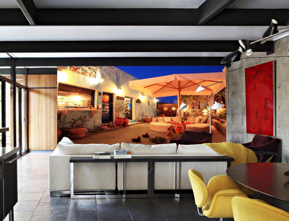 3D Milieu   Nuit  4 Photo Papier Peint en Autocollant Murale Plafond Chambre Art