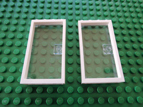 Lego 2 x Tür Rahmen 60596 weiß 1x4x6 2 x Tür 60616 transparent klar
