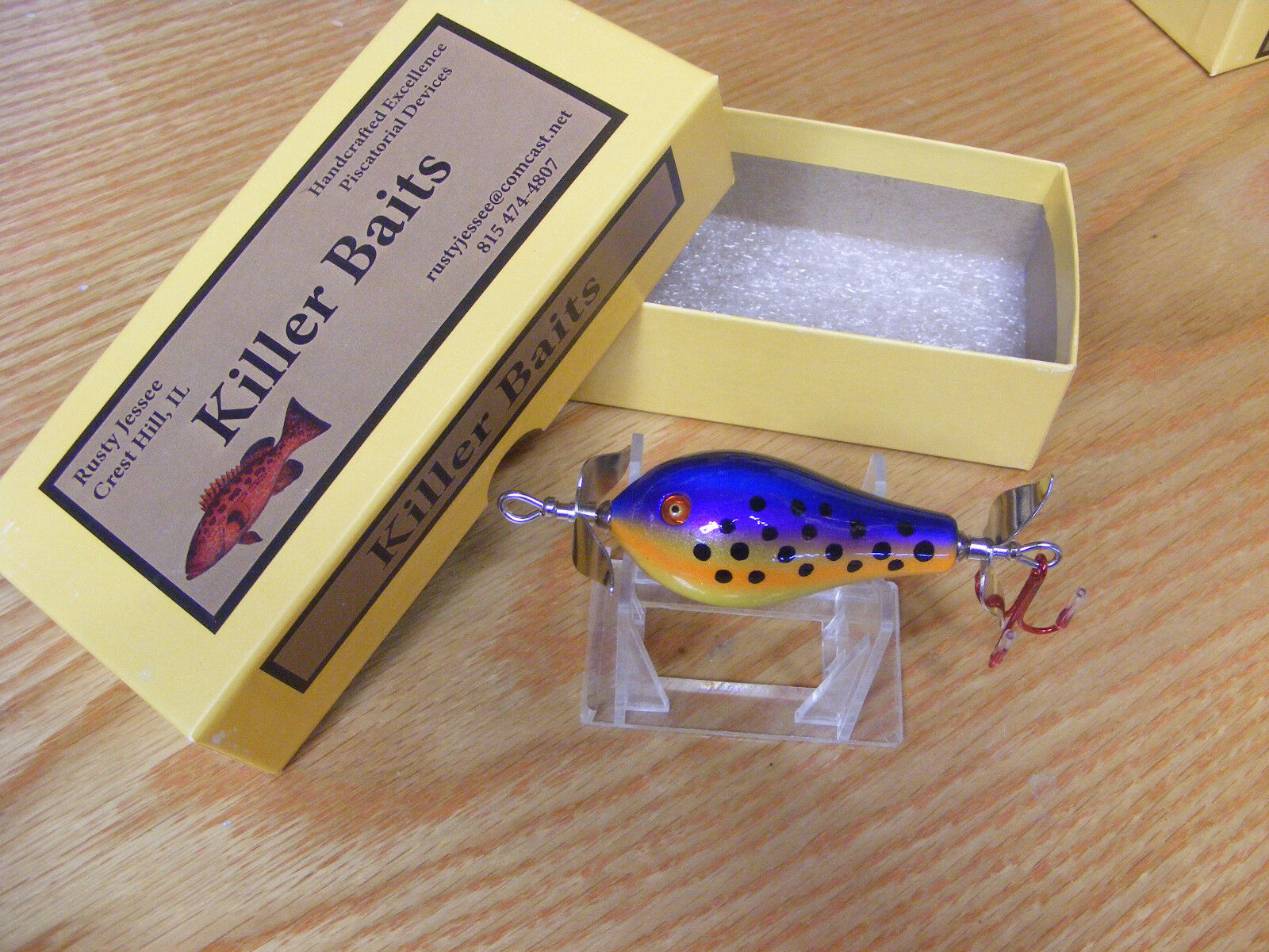 Beautiful Killer Baits Rusty Jessee Glasseye Fatso Lure in Tropical Berry color