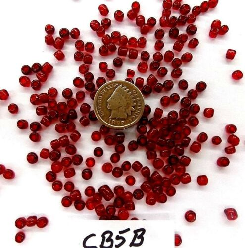 Pony Beads 1//2 LB  BULK   6//0 Dk Cardinal Red  CB5B  Antique Trading Post Style
