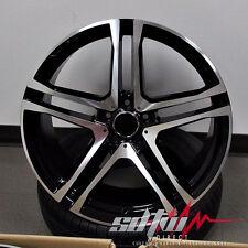 "21"" Split 5 Spoke Style Machined Face Black Wheels Fits Mercedes ML GL 5x112 AMG"