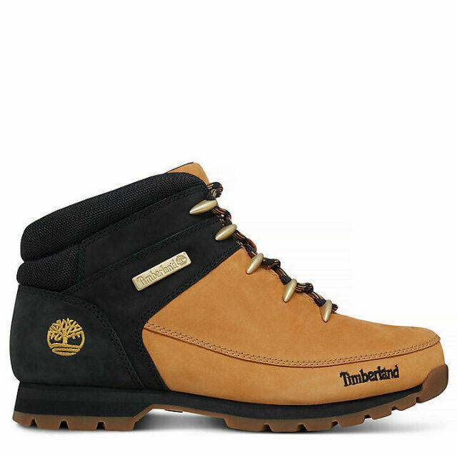 Timberland A1NHJ Euro Sprint EK Mens Leather Hiking Boots Yellow Black Size