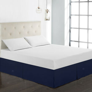 Hotel-Pleated-Bed-Skirt-38cm-Drop-3-Sided-Coverage-Eco-friendly