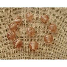 20 HANDMADE INDIAN LAMPWORK GLASS BEADS ~ 13mm Round Beads ~ 75