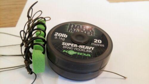 5 Wafter Rigs Korda Darrell Peck 20 lb Dark Matter Hair Carp Rig Teflon Korda