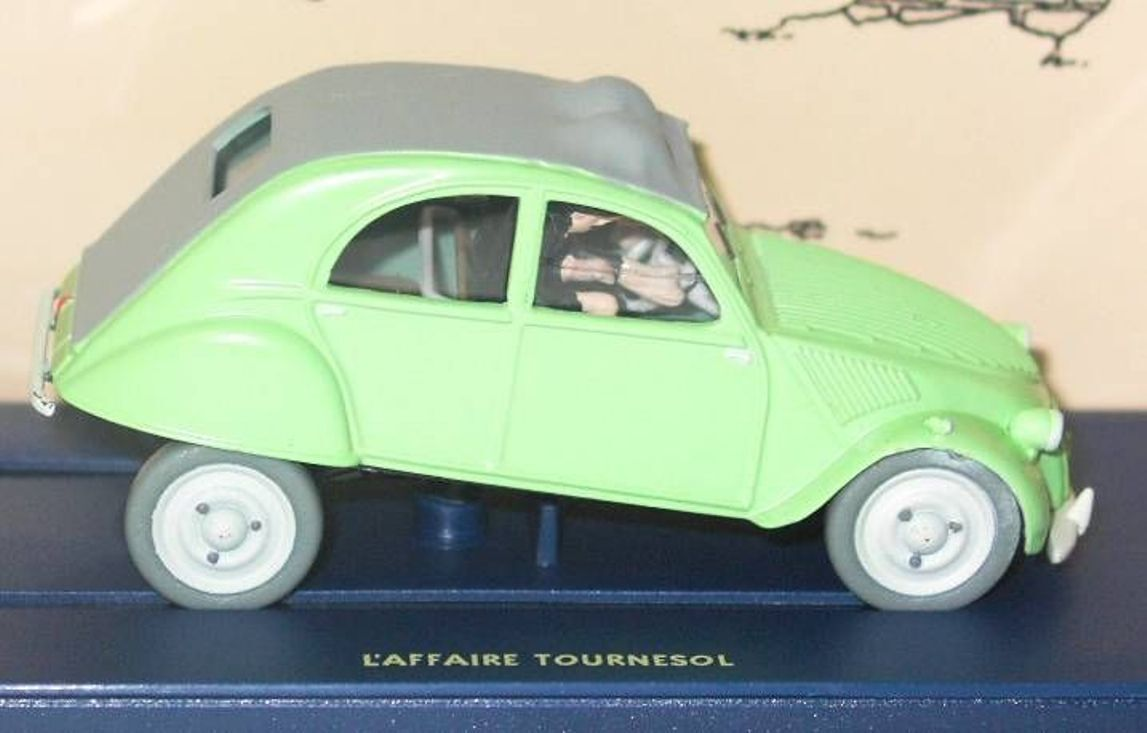CITROEN 2CV TINTIN AFFAIRE TOURNESOL DUPONT & DUPOND 1 43 EDITIONS ATLAS