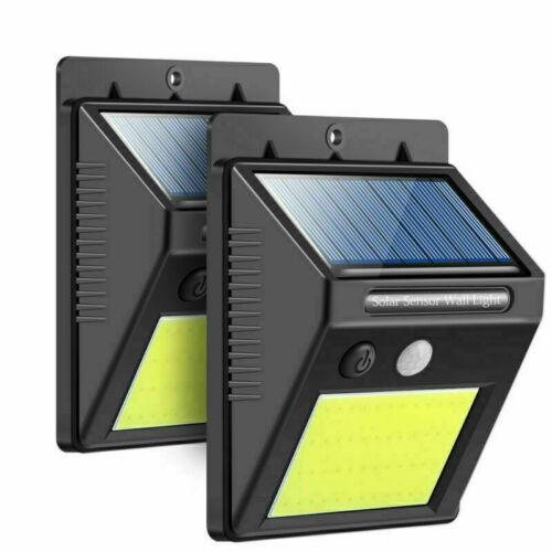 48LED Solarlampe Solarleuchte Außenlampe Bewegungsmelder Strahler Gartenlicht DE