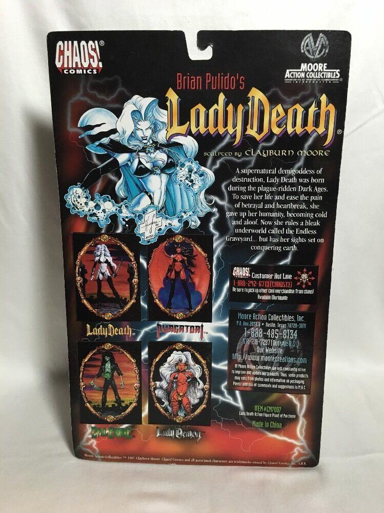 Lady Death Action Action Action Figure Sci-fi Fantasy Chaos Comics Chrome Edition 1997 21f310