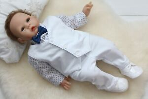 Baby Boy Suit Gentleman White Outfit Smart Party Birthday Baptism Summer