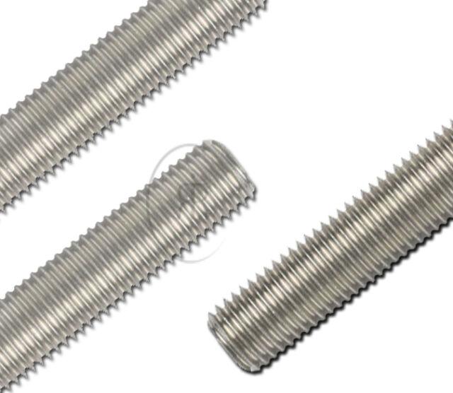 M4 4mm Threaded Bar Studding MARINE GRADE A2 STAINLESS STEEL Threaded Rod