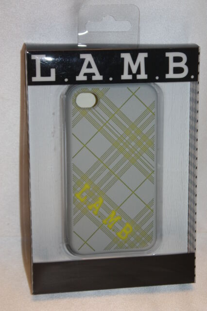 NEW! L.A.M.B. Gwen Stefani Gray Yellow Plaid iPhone 4/4s Case ...