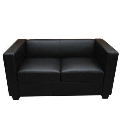 2er Sofa Couch Loungesofa Lille Leder, schwarz | eBay
