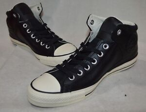 23807ac9274a Converse Men s CT High Street Black Egret Hi-Top Leather Sneakers ...