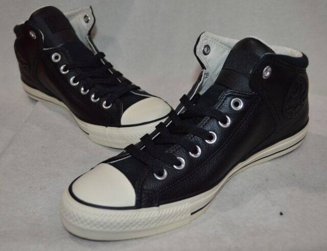 Converse Men s CT High Street Black Egret Hi-Top Leather Sneakers-Size 11 3285b73ed