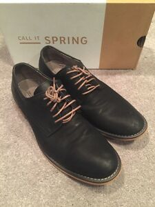 7788692a8fc0 PRE-OWNED CALL IT SPRING JONAS Black Dress Shoe OXFORDS LACE UP ...