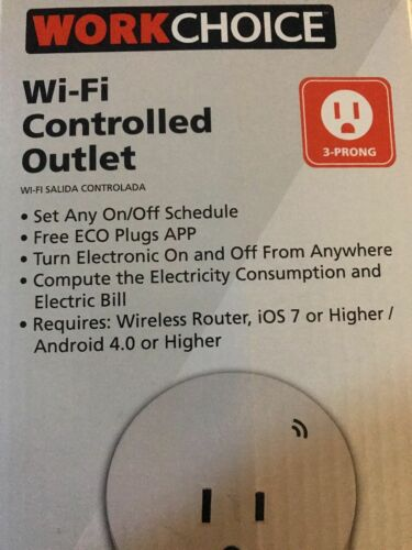 WorkChoice 1 Ol Wi-Fi Controlled Outlet Indoors White Free Shipping