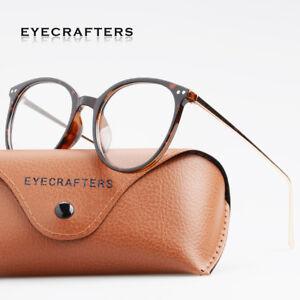 Fashion-Men-Women-Eyeglasses-Retro-Metal-Round-glasses-Clear-Lens-Eyewear-Frames