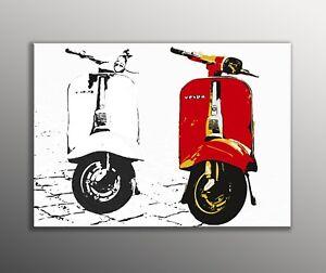 QUADRO-VESPA-MODERNO-SU-TELA-POP-ART-PIAGGIO-d-039-appendere-PRODOTTO-ITALIANO