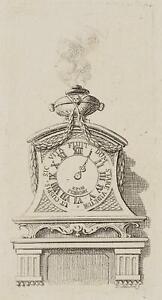 Chodowiecki (1726-1801). un orologio su un consol; pressione grafico 1