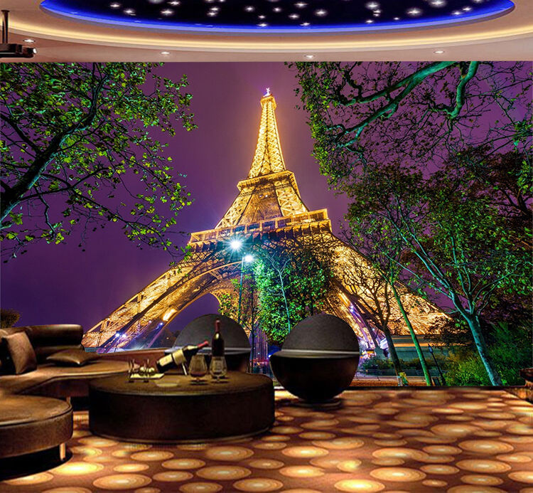 3D Bright Eiffel Tower 8 Wall Paper Print Wall Decal Deco Indoor Wall Murals