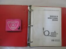 Hewlett Packard 85020 Ab Directional Bridge Operating And Service Manual