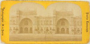 Francia Parigi, Il Palais Da L Industria, Foto Stereo Vintage Cartoncino Abisso