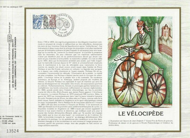 Open-Minded Cef Sheet 1er Day France Velocipedes 1983-show Original Title