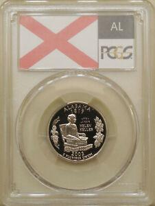2003-S-Alabama-state-quarter-PCGS-PR-70-DCAM-proof-deep-cameo-PERFECT-Flag