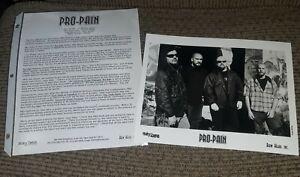 PRO-PAIN-Press-Kit-w-Photo-90s-HARDCORE-METAL-Mayhem-Records-RADIO-STATION-PROMO