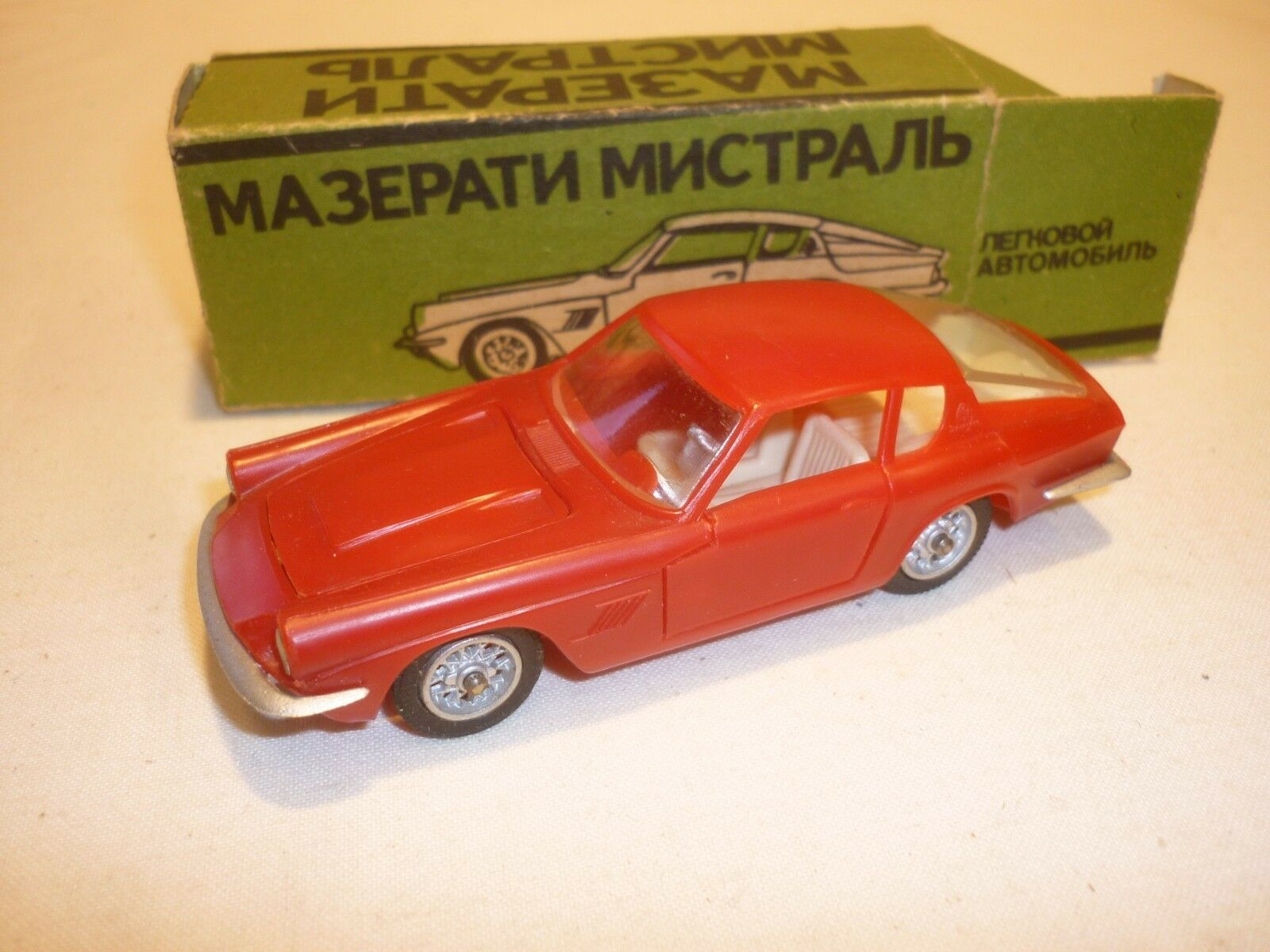 A Russian CCCA all plastic model of a Maserati Mistral 3.5 litre   boxed.
