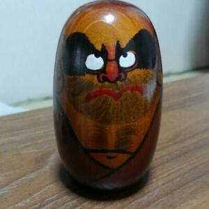 VINTAGE-WOODEN-JAPANESE-HAND-PAINTED-KOKESHI-DOLL-ANTIQUE-OBJECTS