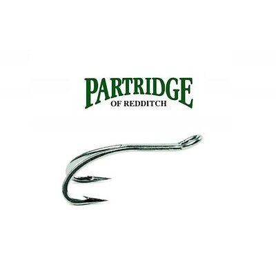 Partridge PATRIOT UP EYE Double Hooks Black Nickel 10 * 2019 Stocks CS16//2B