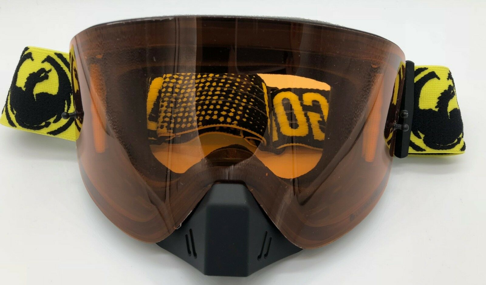 Dragon NFX MX-17004 Factory- Lumalens Amber Snowmobile Snowboarding Goggles