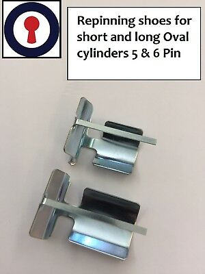 Locksmith tool re-pinning shoes for 5 /& 6 pin Oval cylinders 1st P/&P